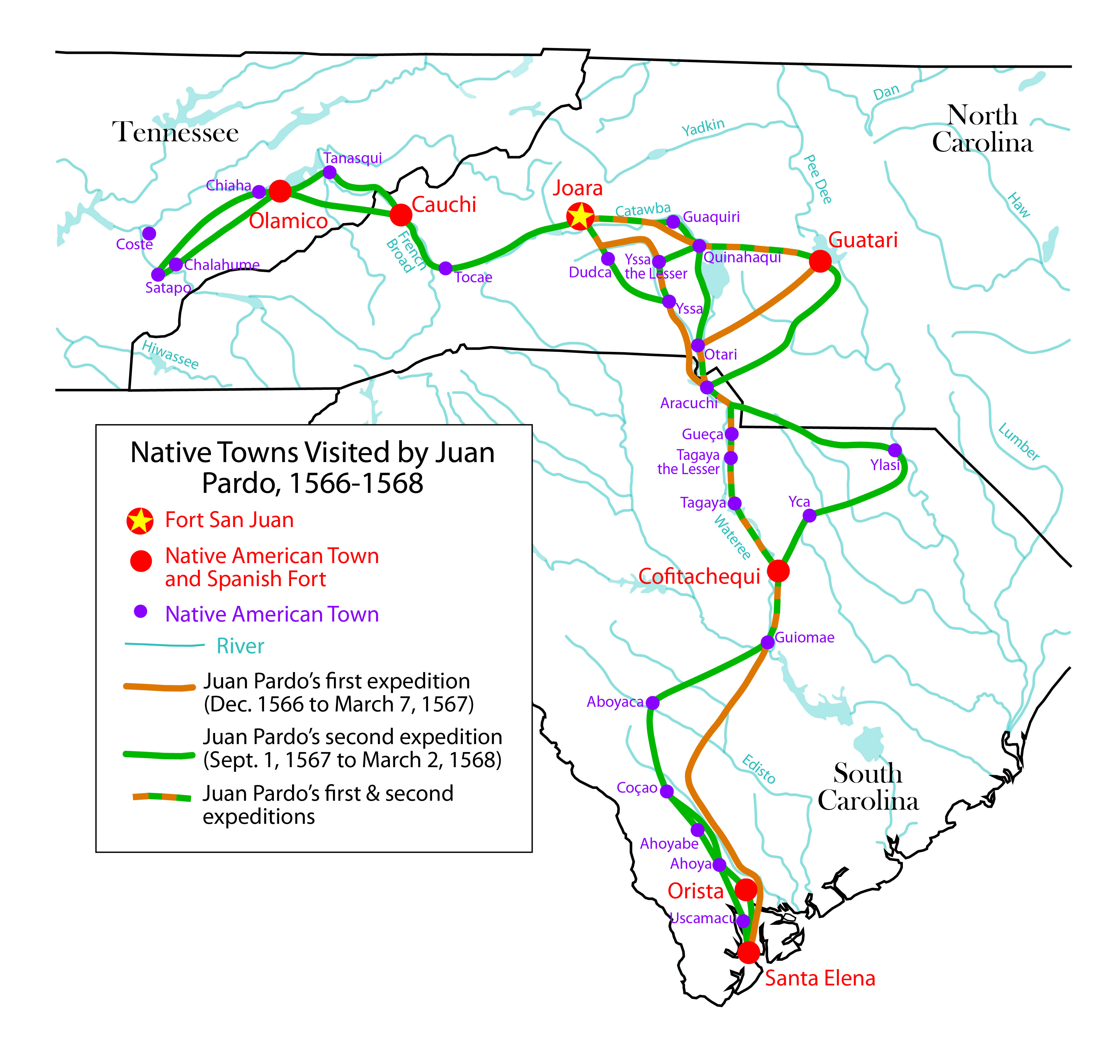 Fort San Juan (Burke County) | Ancient North Carolinians Map Of Burke County Towns on