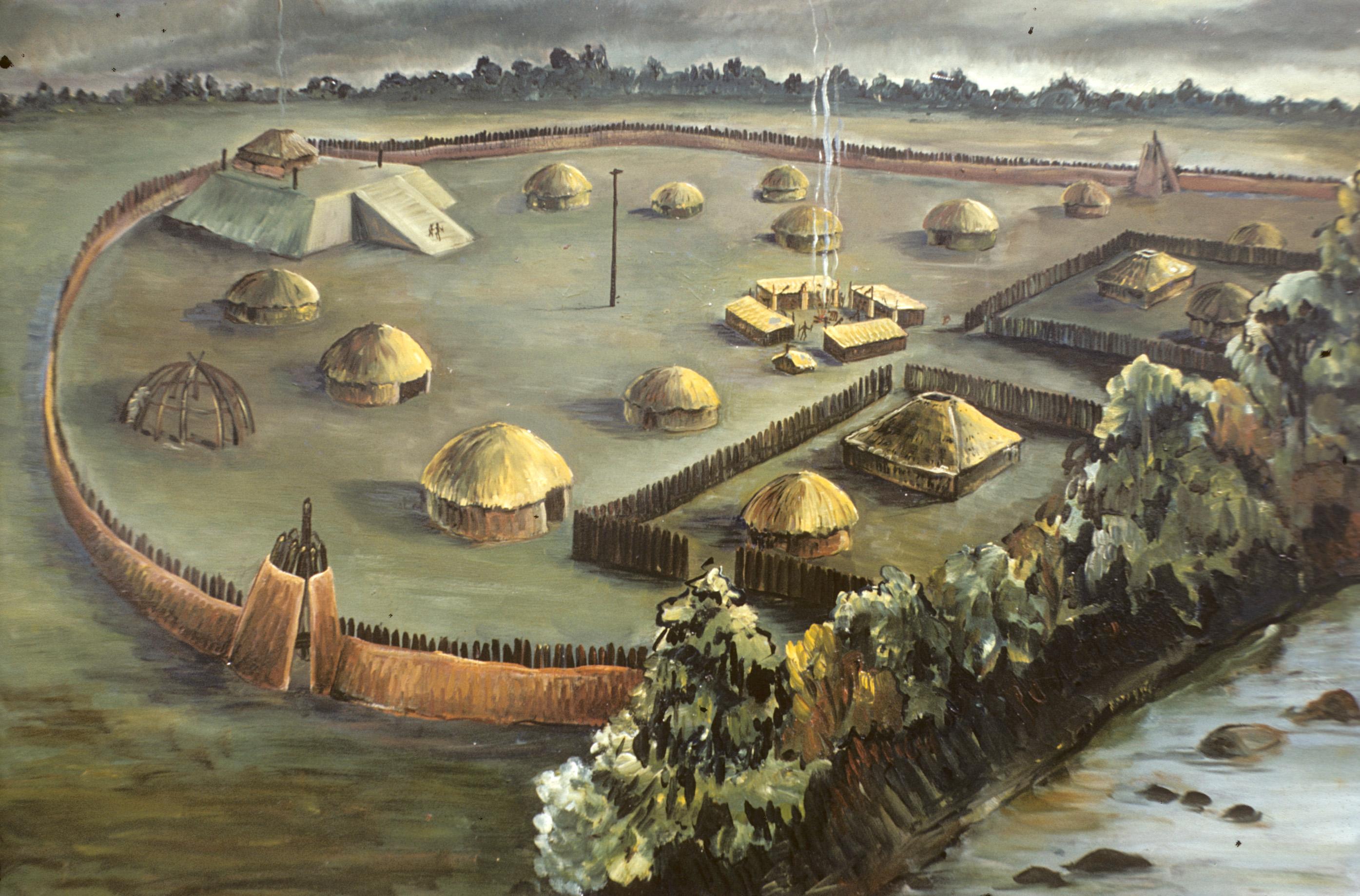 Artist's illustration of Town Creek