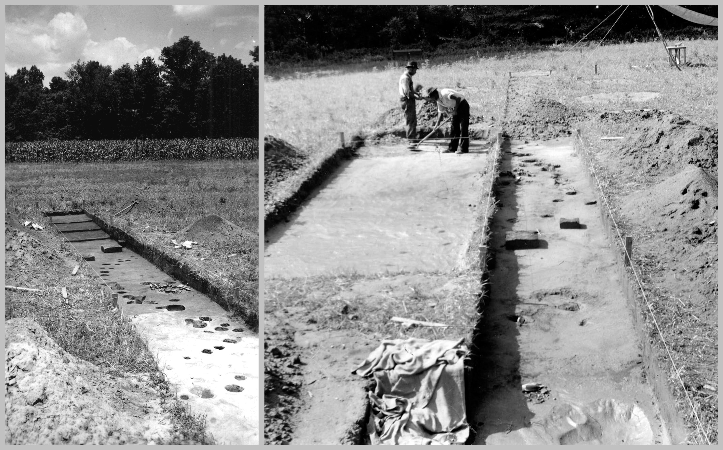 First Wall site excavations in 1938.
